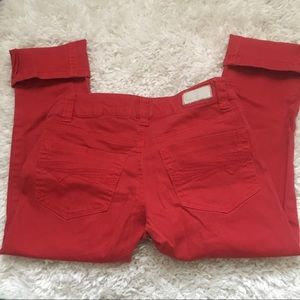 Red Capris Jeans🌹